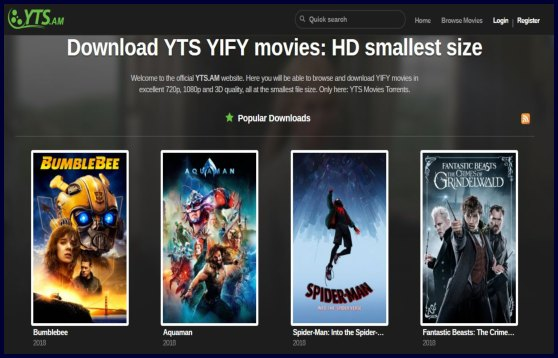 yts torrenting sites list