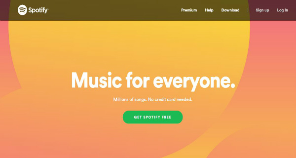 Spotify - Free Music Streaming Sites