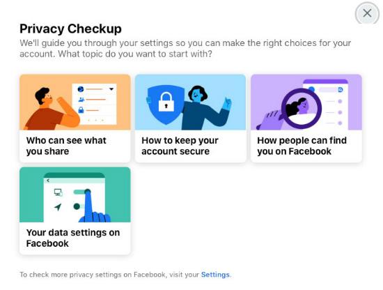 FB Privacy Checkup