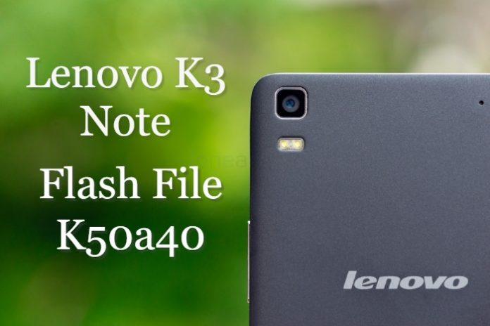 Lenovo K50a40 Flash File