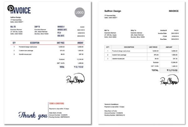 Invoice Home Invoice